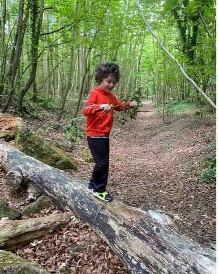 Look at Liam's fantastic balancing ⭐️