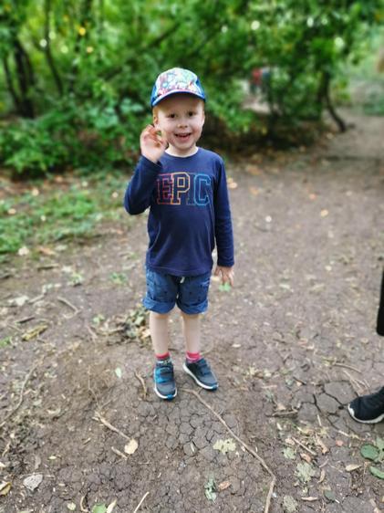 Thomas exploring the outdoors ⭐