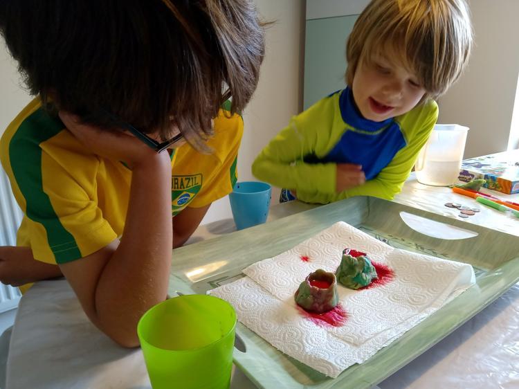 Jacob did a fab volcano experiment ⭐