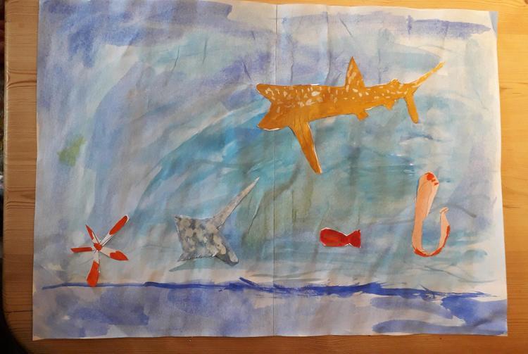 Merryn's underwater scene