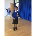 The children took part in a drama worshop about our class book 'Here We Are.'
