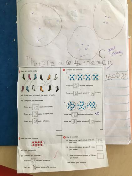 Mason really enjoyed exploring equal groups ⭐️