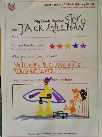Ella's fab review of Jack and the Beanstalk⭐
