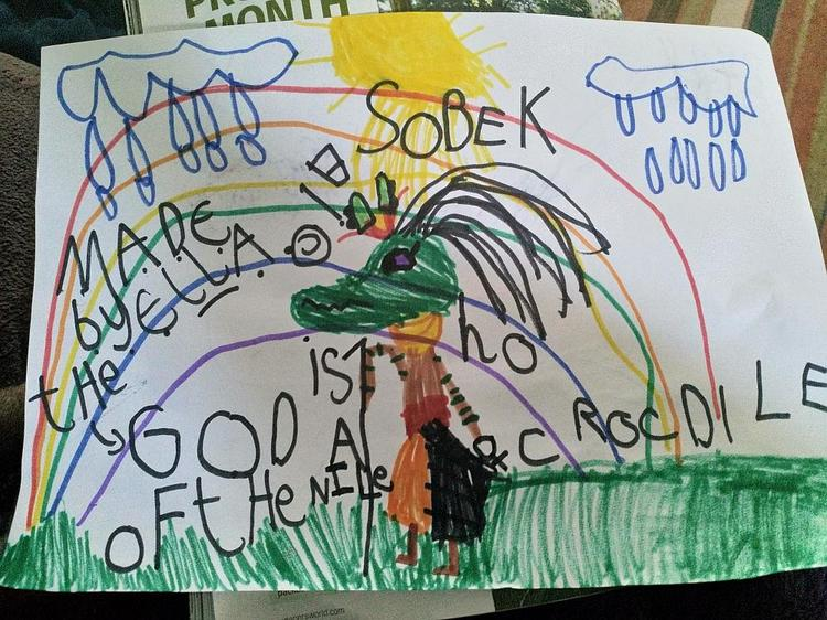 A picture of Sobek the Crocodile God of the Nile⭐