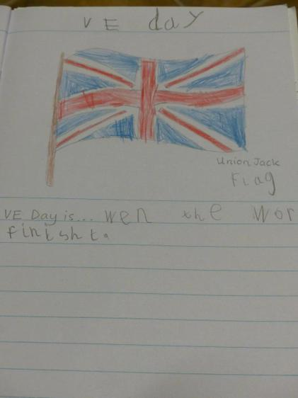 Aaron created a fab sentence on VE day