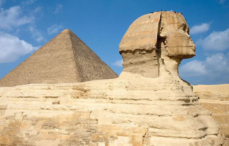 Sphinx at 'The Great Pyramid'