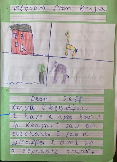 Well done, Joshi, a great postcard ⭐️