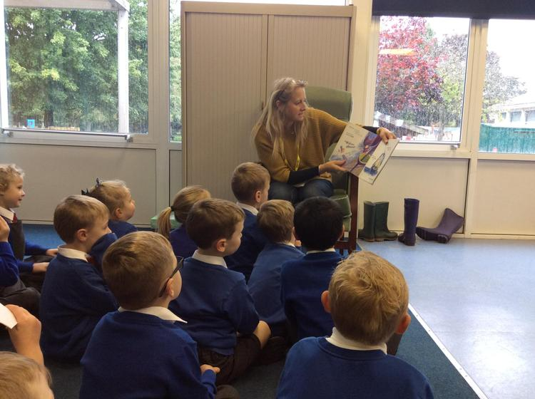 The children really enjoyed their story.