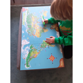 Noah T doing his geography