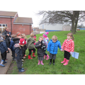 We went on a Welly walk around the school...
