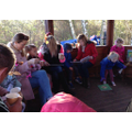 Stories and hot chocolate in the outdoor classroom