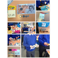 We went shopping to help us add and subtract money