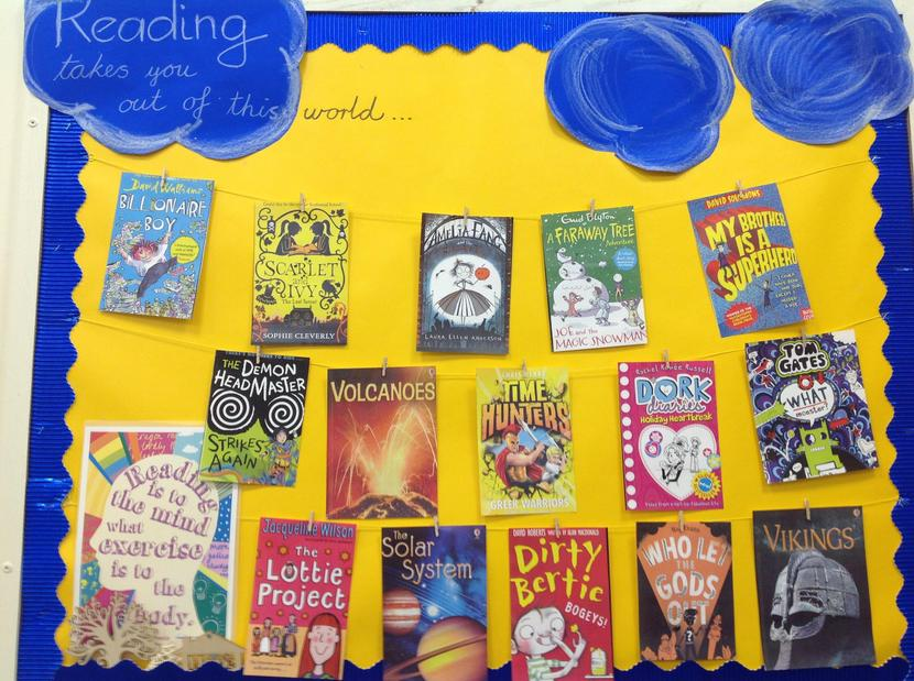 Some of the books we have read as a Year Group.