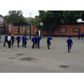 We were learning how to march.