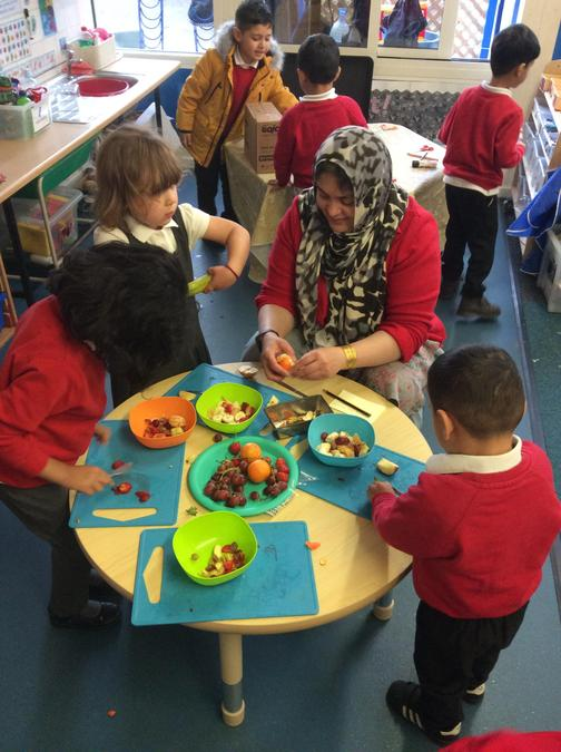 We are learning about healthy eating...