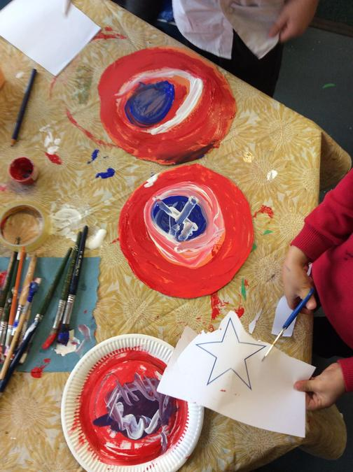 We are making shields...
