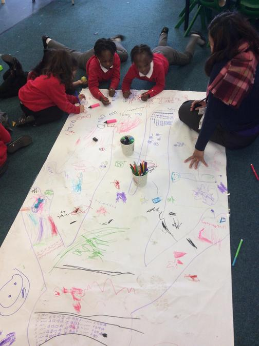 We have had fun making marks and practising writing our names