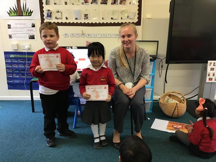 Well done to Jayden and Anyu from Apple Tree Class!