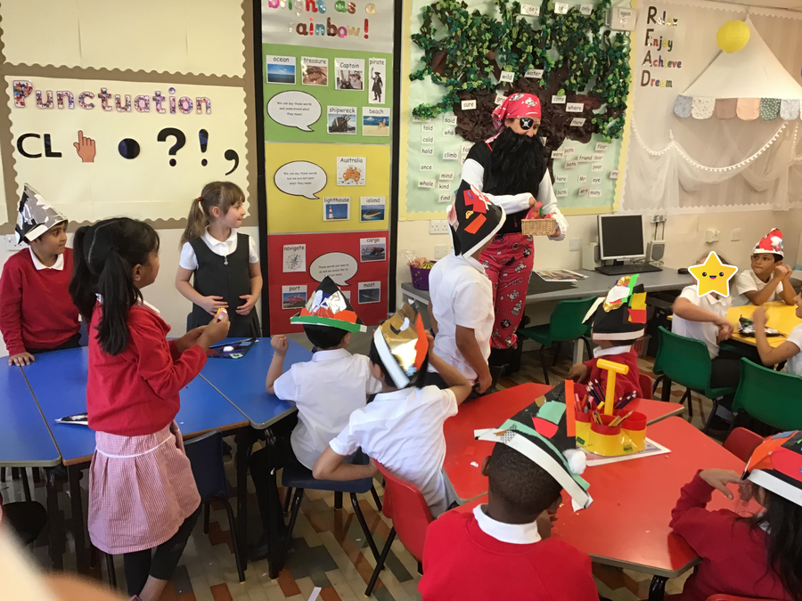 We loved our visit from a Pirate!
