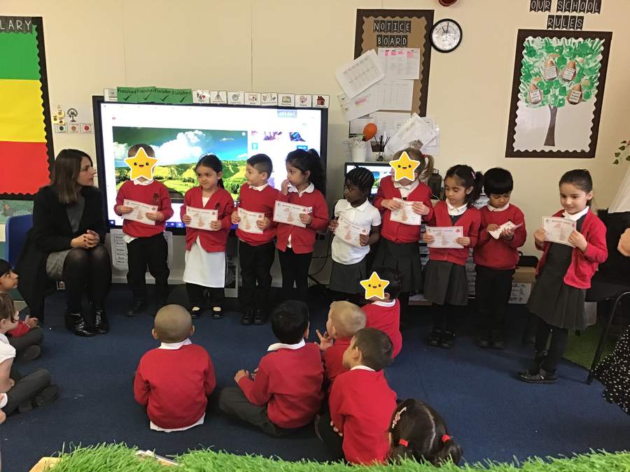 Well done to all these children from Plum tree Class!