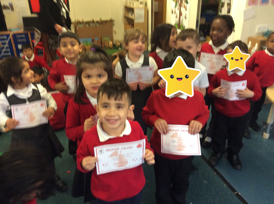 Well done to all these children from Cherry Tree Class!