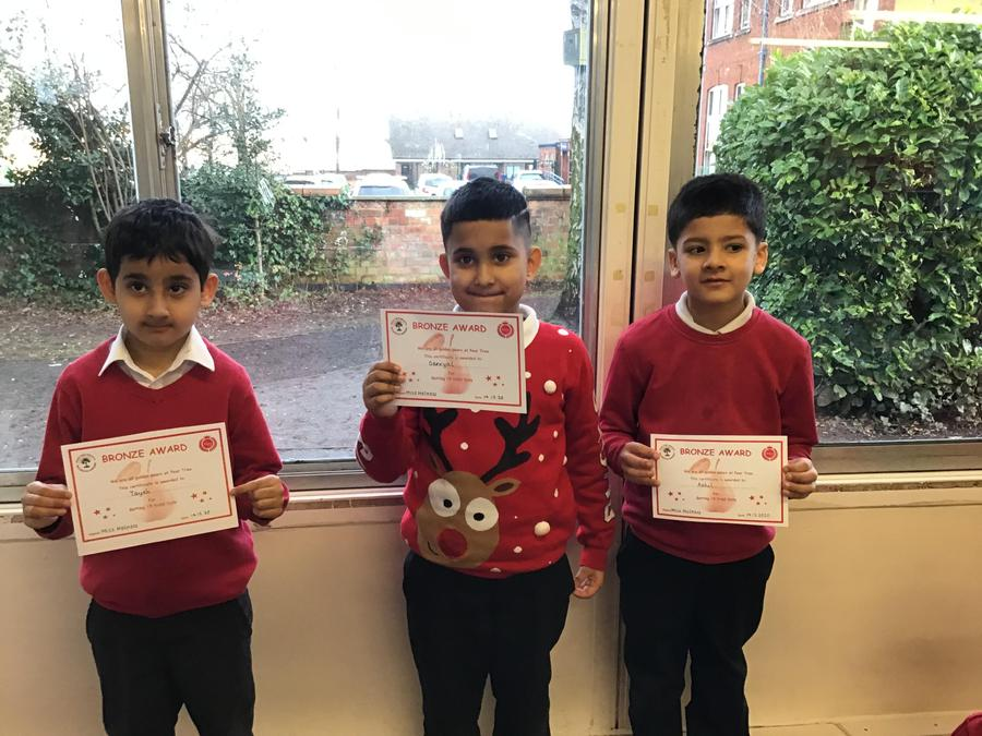 Well done to Tayeb, Daniyal & Aahil from Cedar Tree Class for getting their Bronze award!