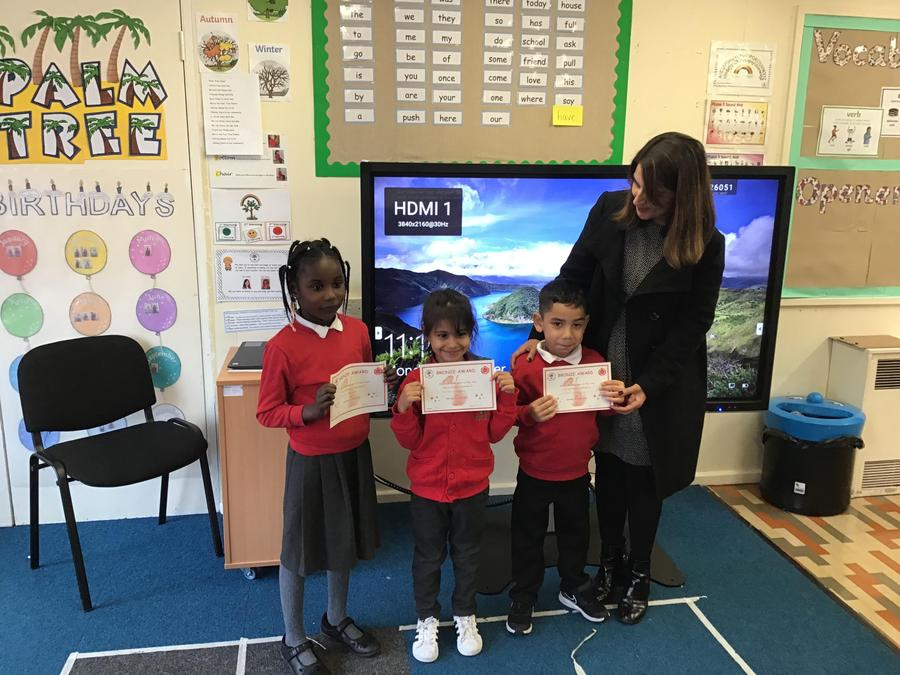Well done to Zara, Lenka and Markus from Palm Tree Class!