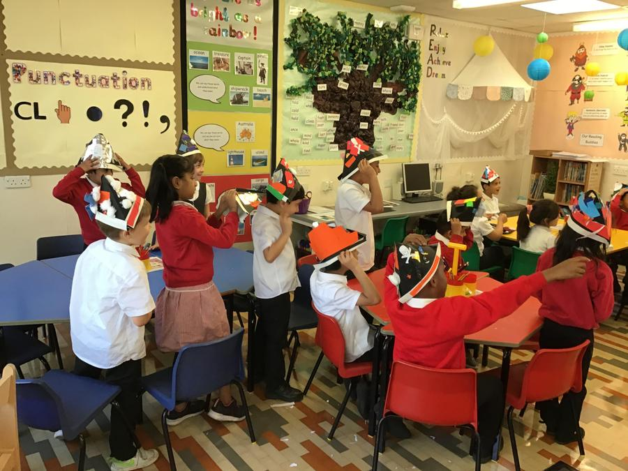 Look at our fantastic hats that we made!