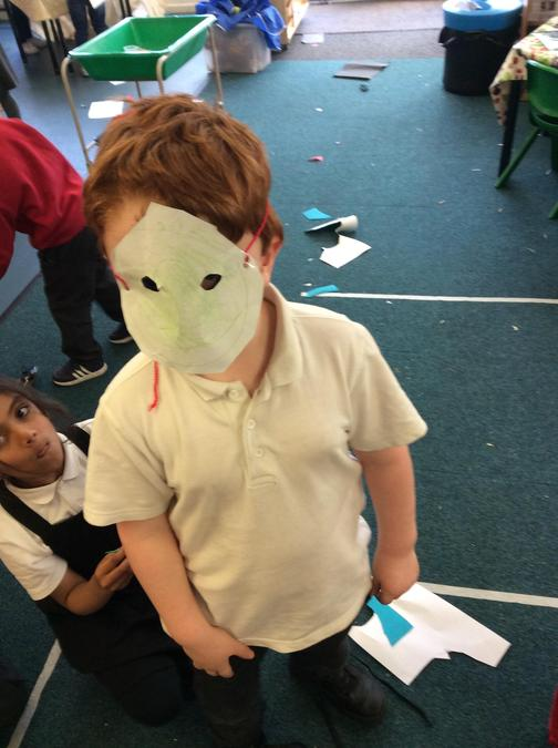 Look at my brilliant mask!