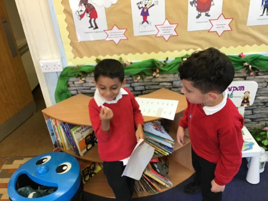 ... we were able to practice reading the words ...