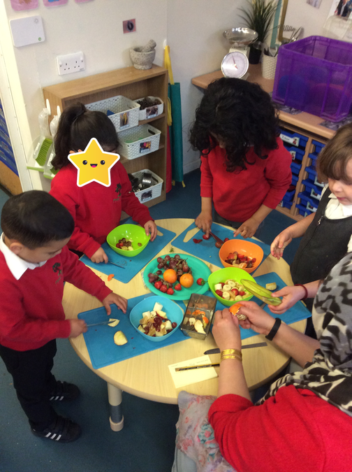 ..and using tools helped with our fine motor skills