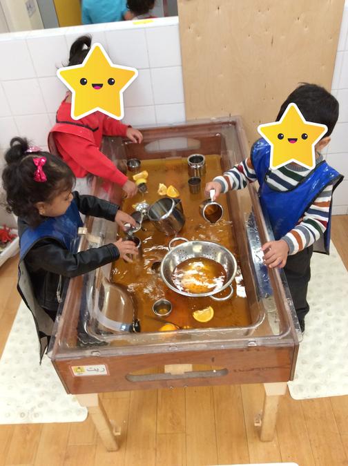 Making tea - imaginative water play!
