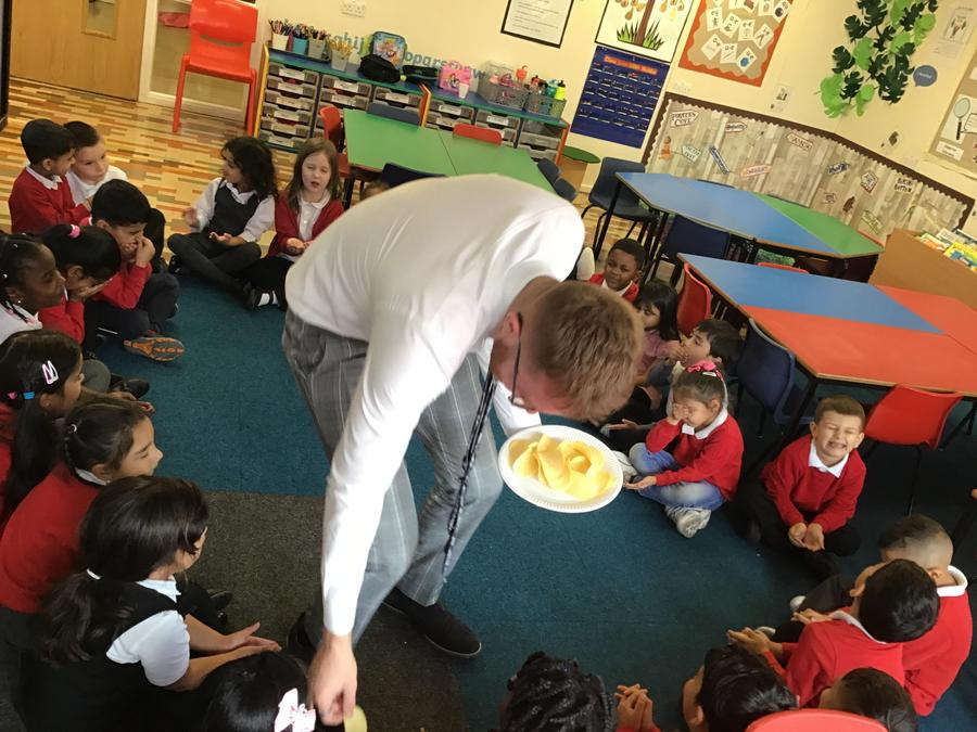Mr Bennett asked us to close our eyes and try some strong flavours....