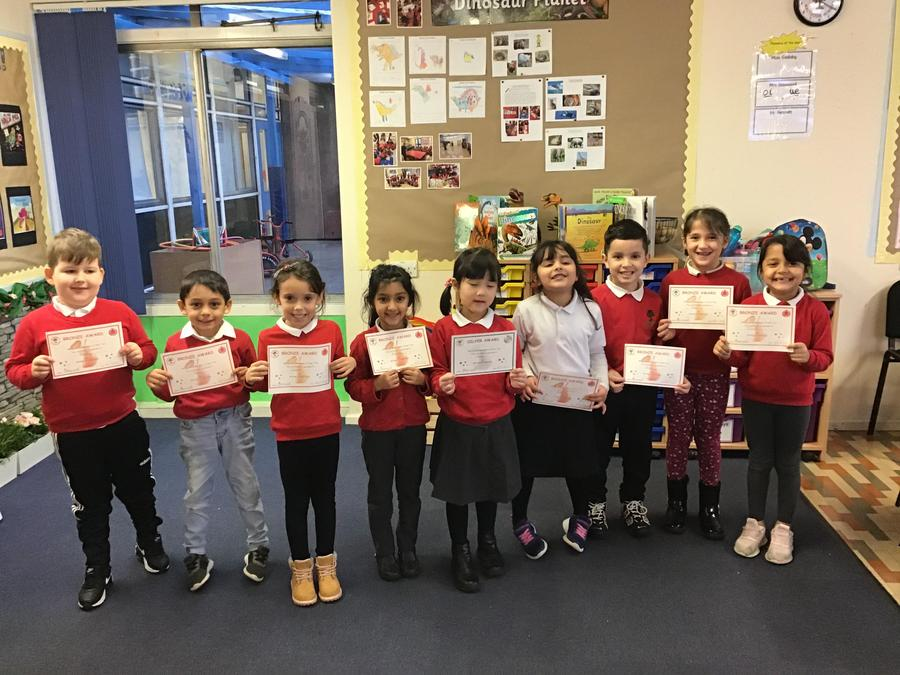 Well done to these Ash Tree children for achieving a bronze or silver certificate!