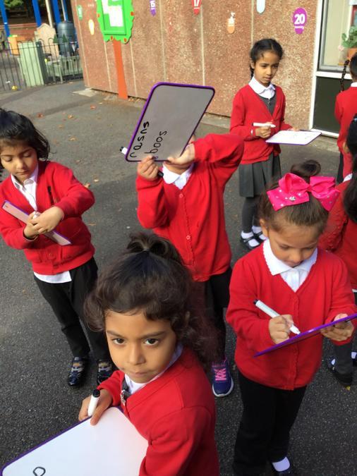 we went all around the school...