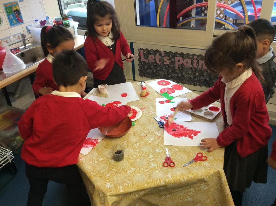 ...we enjoyed exploring different materials such as tissue paper!