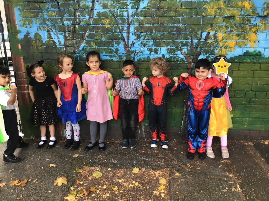 we dressed up as our favourite hero...
