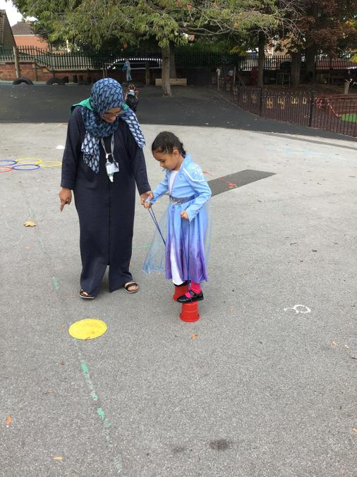 Miss Fouzia helped us with some tricky parts...