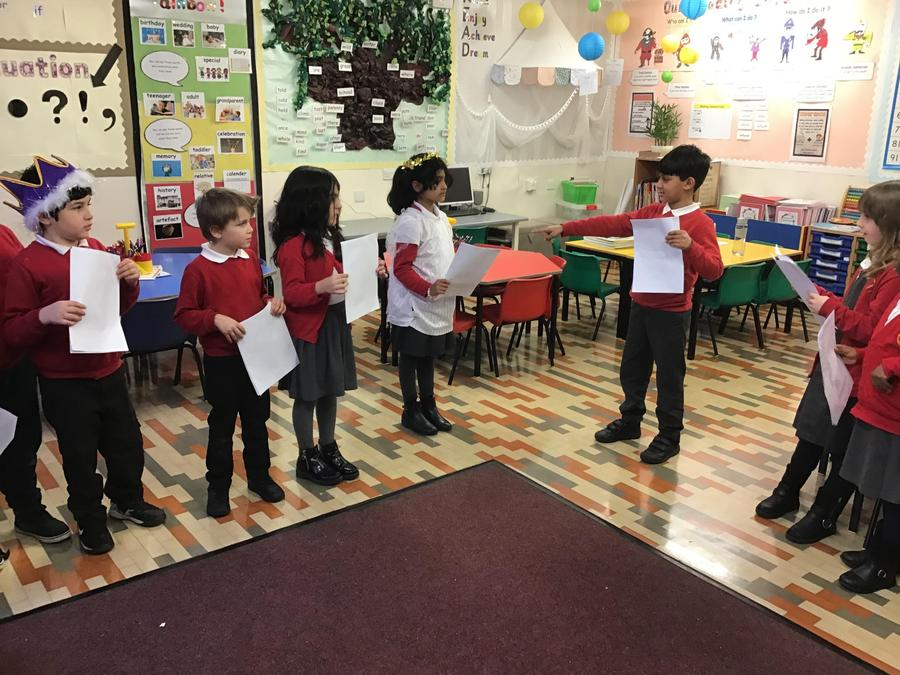 WIllow Tree class are busy rehearsing their scripts!