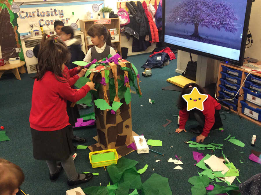 .... we were able to make a kindess tree to share with our friends....