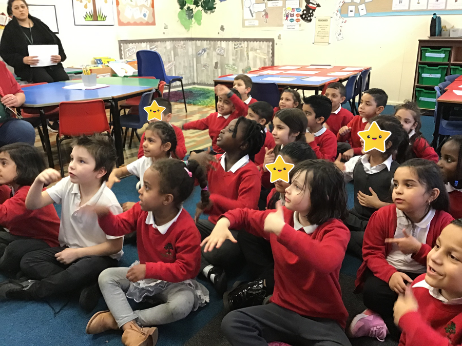 Palm Tree Class have enoyed learning Makaton for our school production!