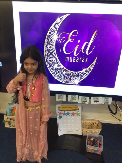 Ayla is showcasing her beautiful Eid outfit