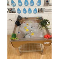 The water play area