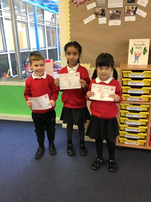 Well done to Charlie, Keerat and Zheng from Ash Tree Class!
