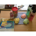Flubber soap slime ready for our hand washing.