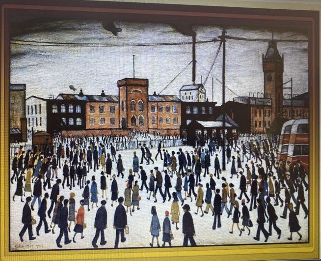 LS Lowry Going to Work 1943