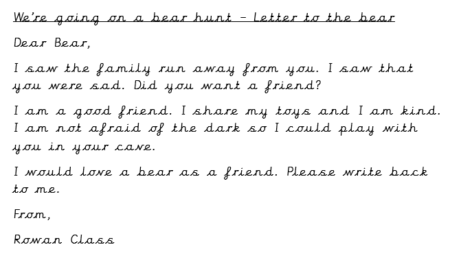 Letter to the bear