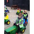 We drove all sorts of tractors.
