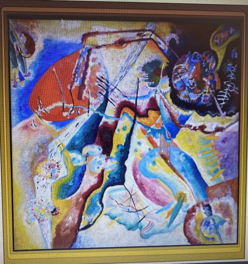 Wassily Kandinsky Painting with Red Spot 1914