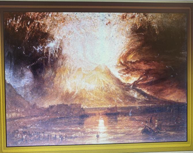 JMW Turner Eruption of Vesuvius 1817